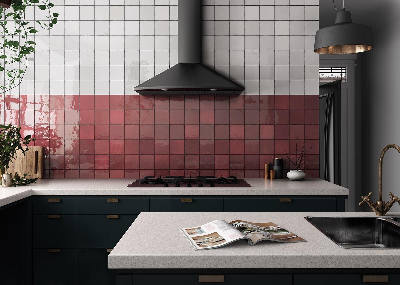 Płytki do kuchni - nawiązanie do marmuru